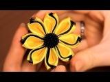 МК: цветок Канзаши из тройных лепестков